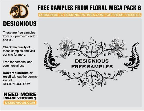 Free floral vector samples