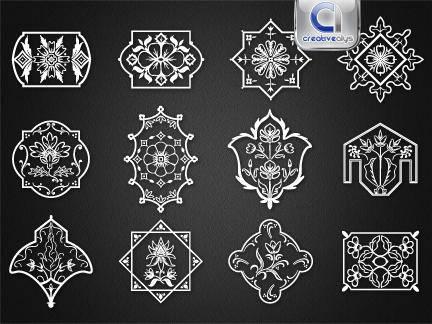 free vector 12 Floristic Designs