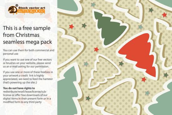 free vector Free Christmas Seamless Pattern