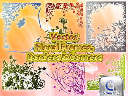 free vector Vector Floral Frames, Borders & Corners