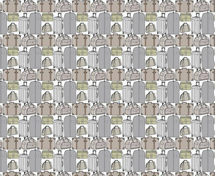 Repeating Luggage Vector Pattern