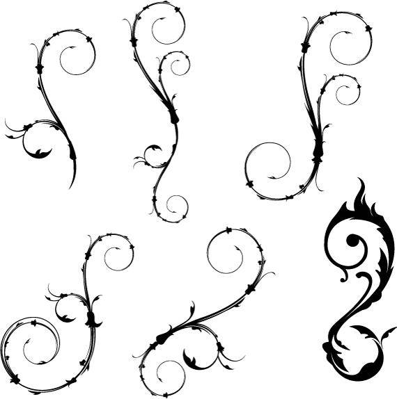 free vector Flower Vector and Vector Swirls