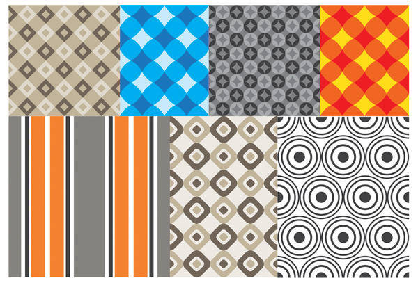 free vector Geometric patterns 2