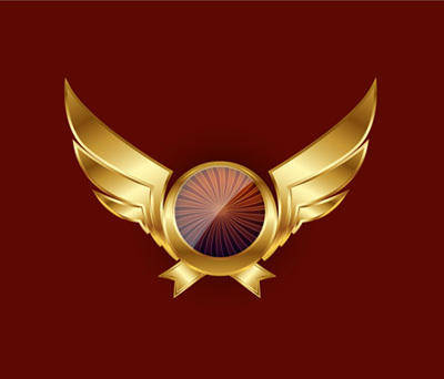 free vector Gold Wings