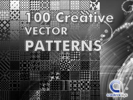 free vector Pattern Vector Pack of 100 Creative Design Pattern Vectors