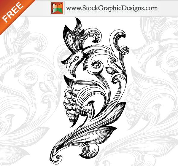 Free Ornamental Floral Elements Vector