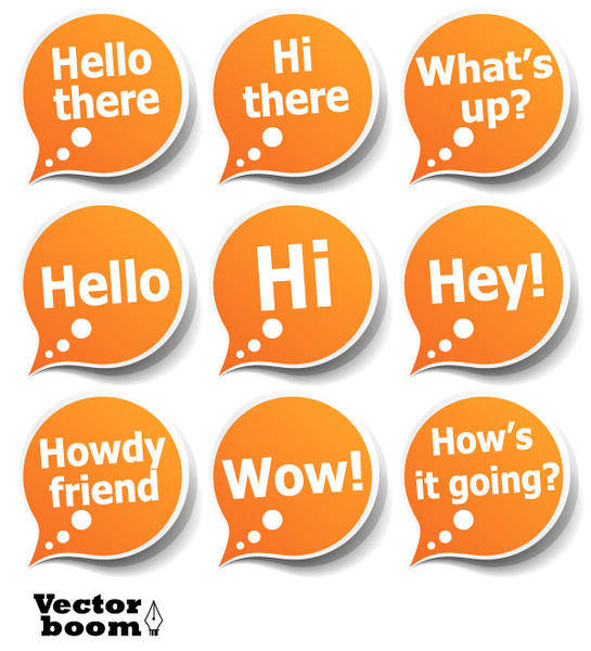 Vector Pack â?? Greeting Bubble Stickers