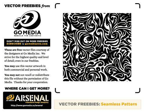 free vector Seamless Swirls Vector Freebies