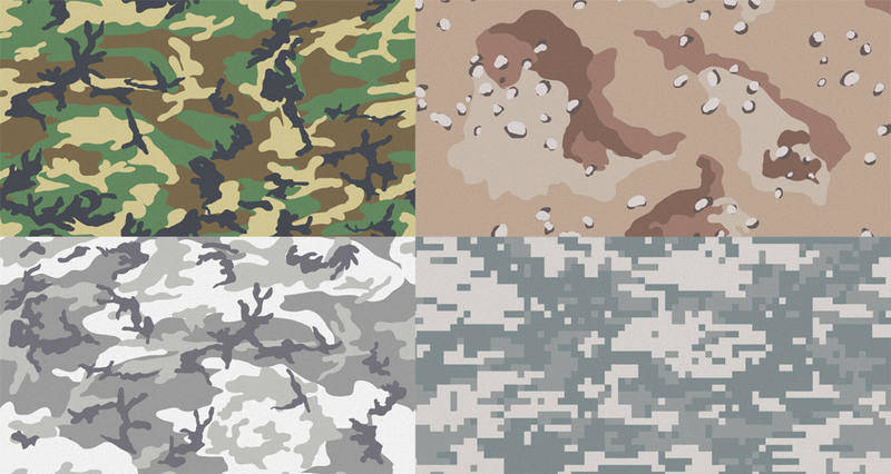 Free Camouflage Patterns for Illustrator & Photoshop