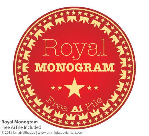free vector Royal Monogram Vector