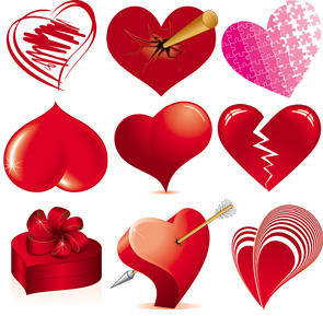 free vector Love Heart Vectors