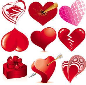 free vector Love Heart Vectors