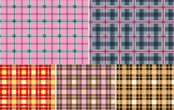 free vector 5 Checkered Cloth Pattern