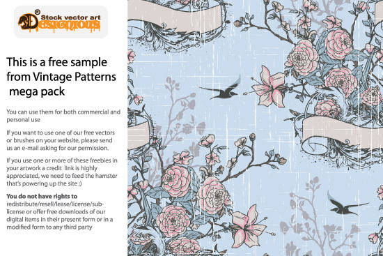 free vector Free Vector Vintage Pattern