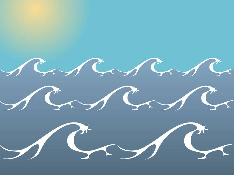 free vector Ocean/ Sea Waves Vector