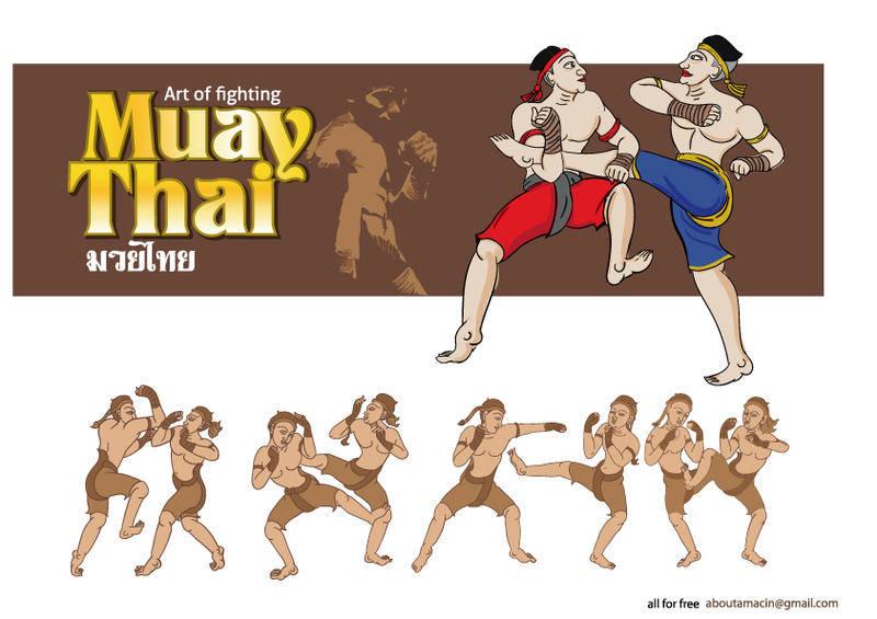 free vector MuayThai Martial Arts Vector