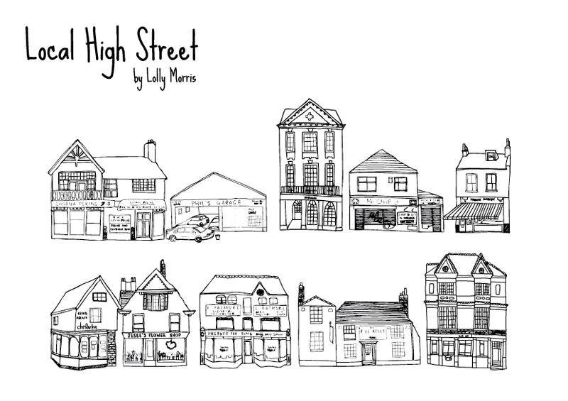 free vector Free Hand Drawn High Street Shops Vectors!!!