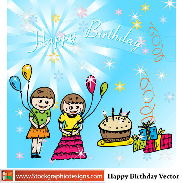 Happy Birthday Vector