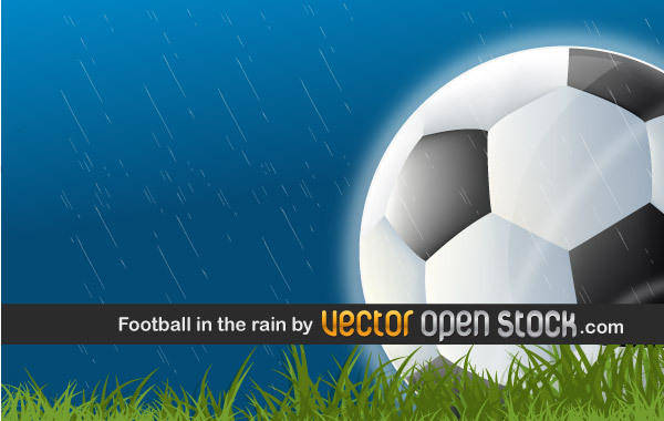 free vector Football in the Rain