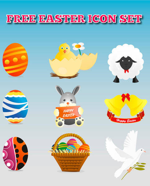 free vector Icon Vector Easter Pack