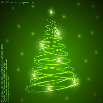 free vector Abstract Christmas Tree Background 2