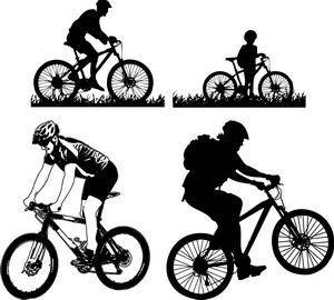 free vector Mountain Cycling Vector Pack