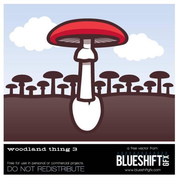 free vector Woodland Mushroom Vector