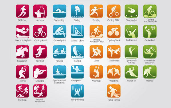 free vector Olympic Sports Icons