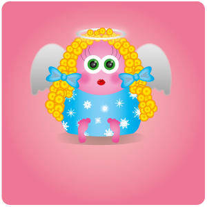 free vector Cute Little Angel Vector