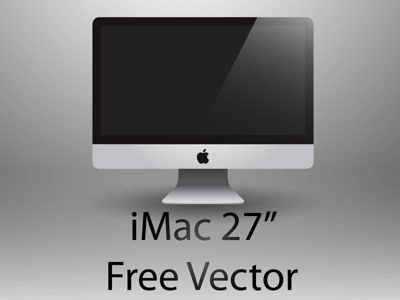 free vector IMac 27' Free Vector