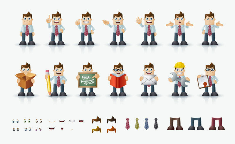 free vector Business Man Vector Characters