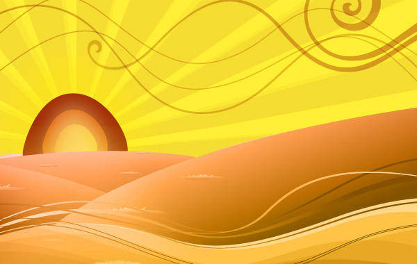 free vector Cartoon Distorted Desert