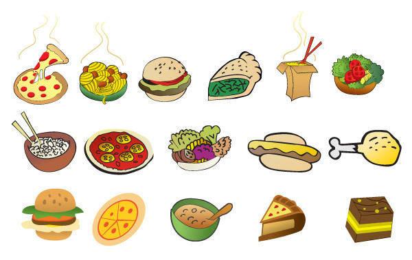 free vector Cartoon Foods