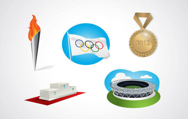free vector Olympic elements vector