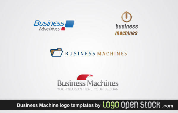 free vector Business Machine Logo Template