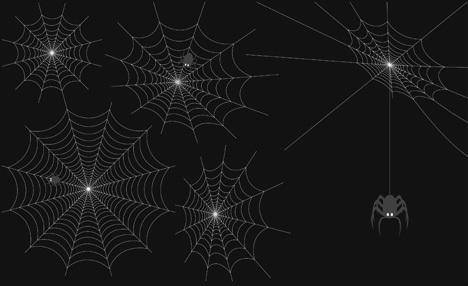 free vector Spider Web Vector Set