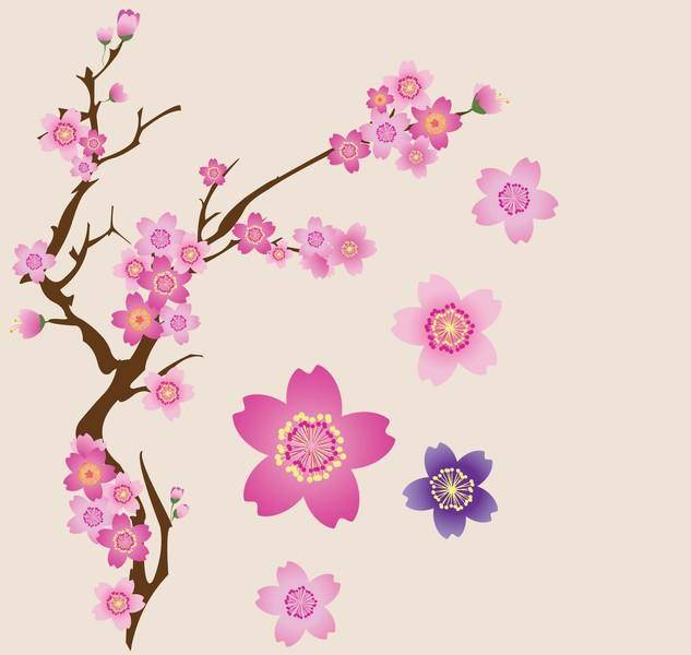 free vector Cherry Blossoms Vector