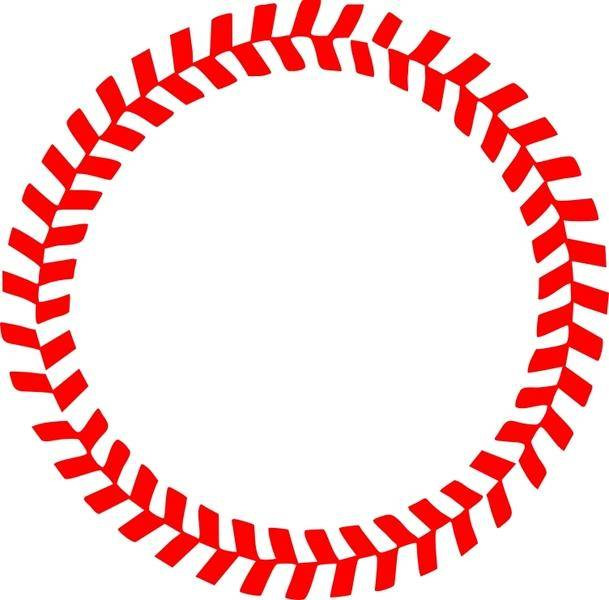 Baseball Stitches in a Circle Vector