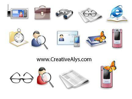 free vector Beautiful Business Icons