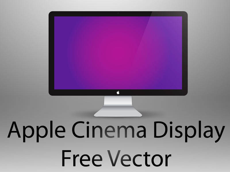 free vector LED Cinema Display