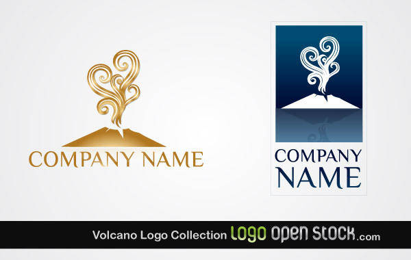 free vector Volcano Logo Collection