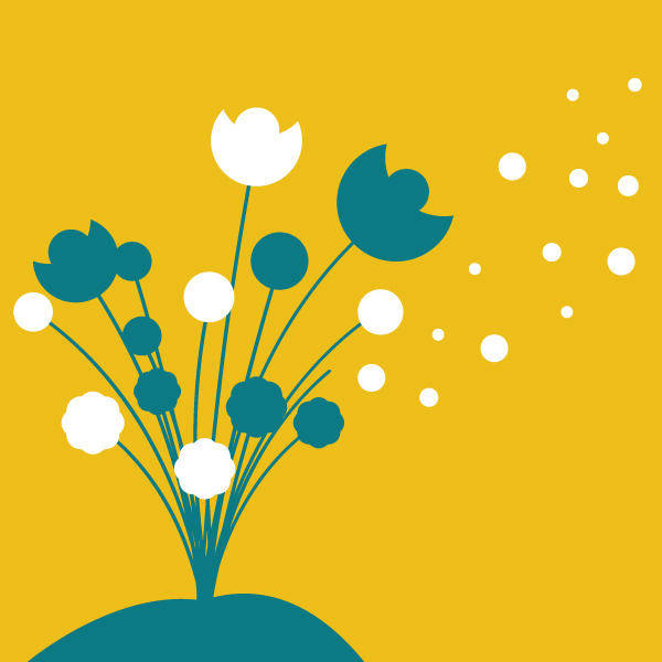 free vector Flowers grow at night