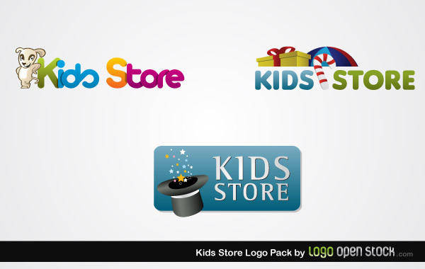 free vector Kids Store Logo Pack