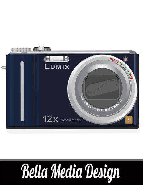 free vector Lumix Camera Vector Art