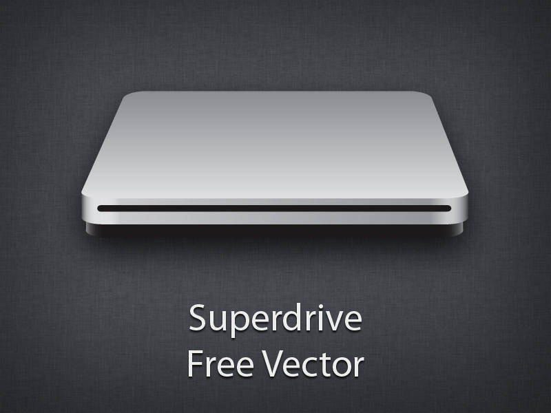 Apple superdrive free vector