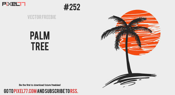 free vector Palm Tree Vector - Free Vector of the Day #252