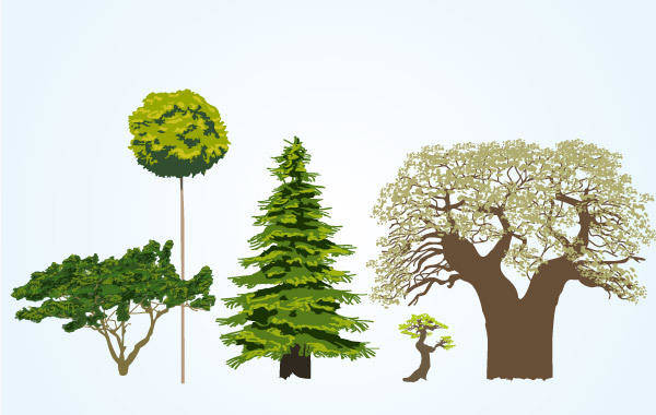 free vector Vector Tree Collection