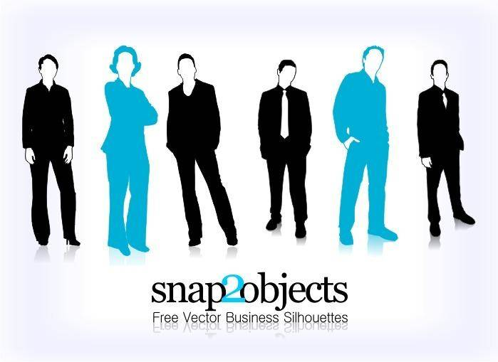 free vector Business Vector People Silhouettes