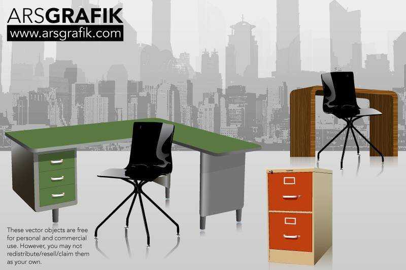 free vector Vector Office Furniture
