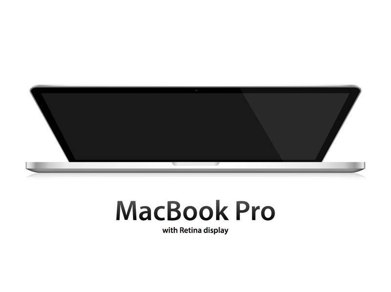 free vector MacBook Pro with Retina display